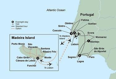 Collette Sunny Portugal Maritime Travel - Portugal map silver coast